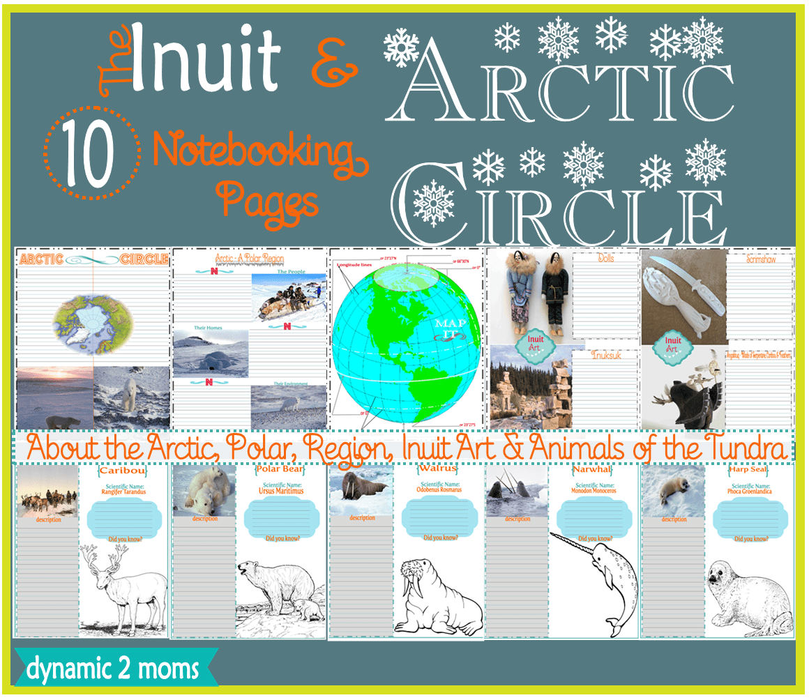 Inuit Art Arctic Circle 10 Notebooking Pages Amp Free