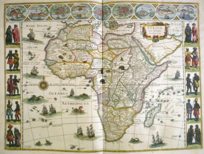 Cartography     Concise Bibliography of the History of Cartography     Map of Africa  from Le th        tre dv monde  1640 43  Case oversize G 1007  1