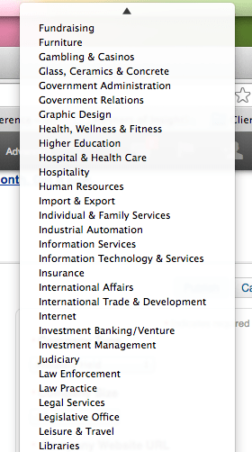 linkedin-industries