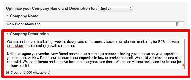 linkedin-company-description