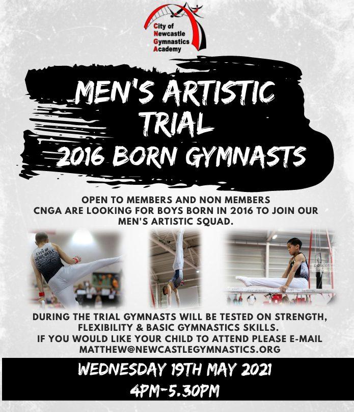 Men's Artistic Open Trial - 2016 born