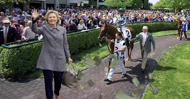 Hillary Clinton Loses 33000 Winning Bet Slips At Keeneland The New Circle Circular