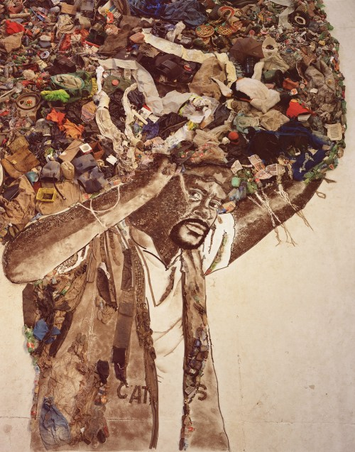 Vik Muniz, Atlas (Carlão), Pictures of Garbage series, 2008, Digital C-print, 129,29 x 101,6cm, Artist's collection