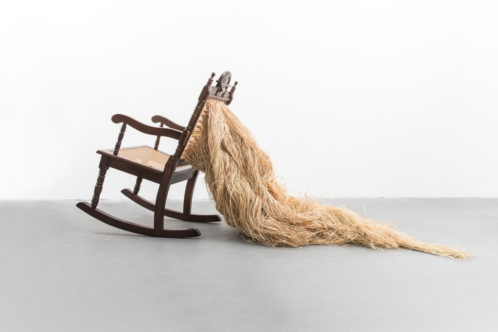 Untitled, 2016, Tempo Series, coast straw and chair