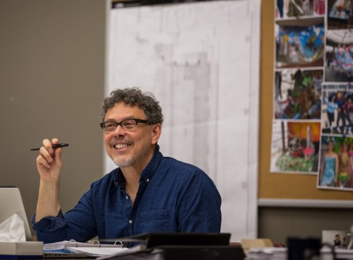 "José Rivera in rehearsal for ""Another Word for Beauty.""/Photo Liz Lauren"