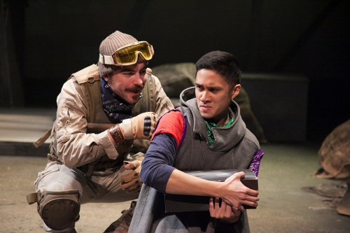 """Michael Steele and Al Evangelista in """"Sight Unseen"""" at Chicago Adventure Stage/Photo: Johnny Knight"""