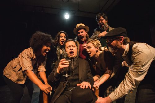 """The cast of """"Ulysses"""" at The Plagiarists/Photo: Joe Mazza at Brave Lux"""