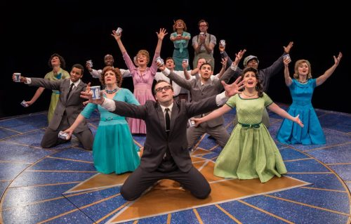 """The cast of """"How to Succeed in Business Without Really Trying""""/Photo: Liz Lauren"""