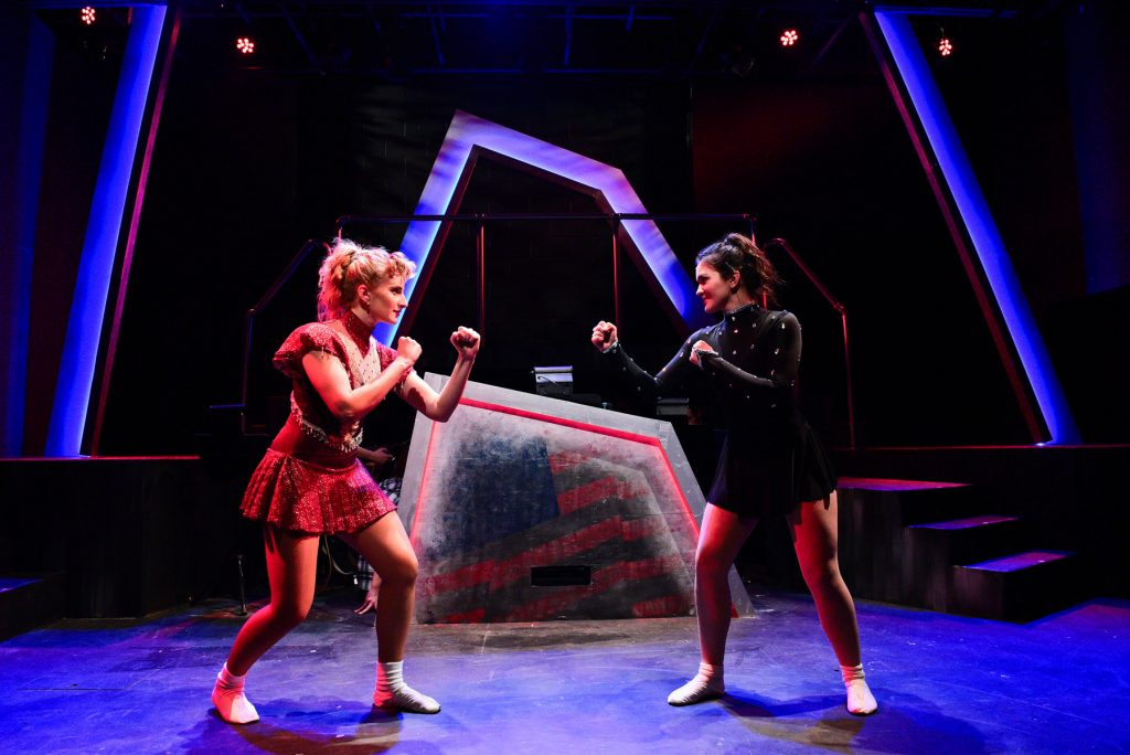 "Amanda Horvath and Courtney Mack in Underscore Theatre Company's ""Tonya and Nancy: A Rock Opera""/ Photo: Evan Hanover"