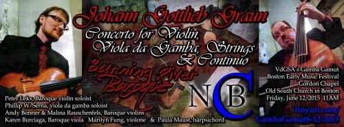 New Comma Baroque & Burning River Baroque - The Viol Under-Graun