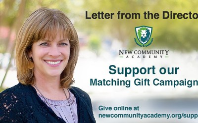 Director's Note: Matching Grant Campaign!