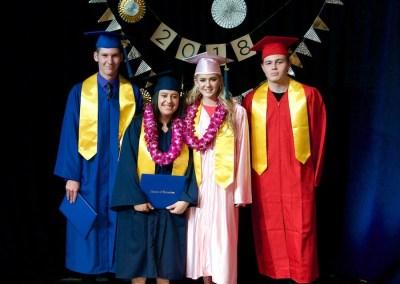 The newly graduated seniors