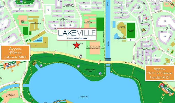 Condo Singapore - LakeVille - Location Map