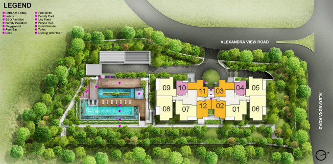 New Condo Launch - Alex Residences - Site Map