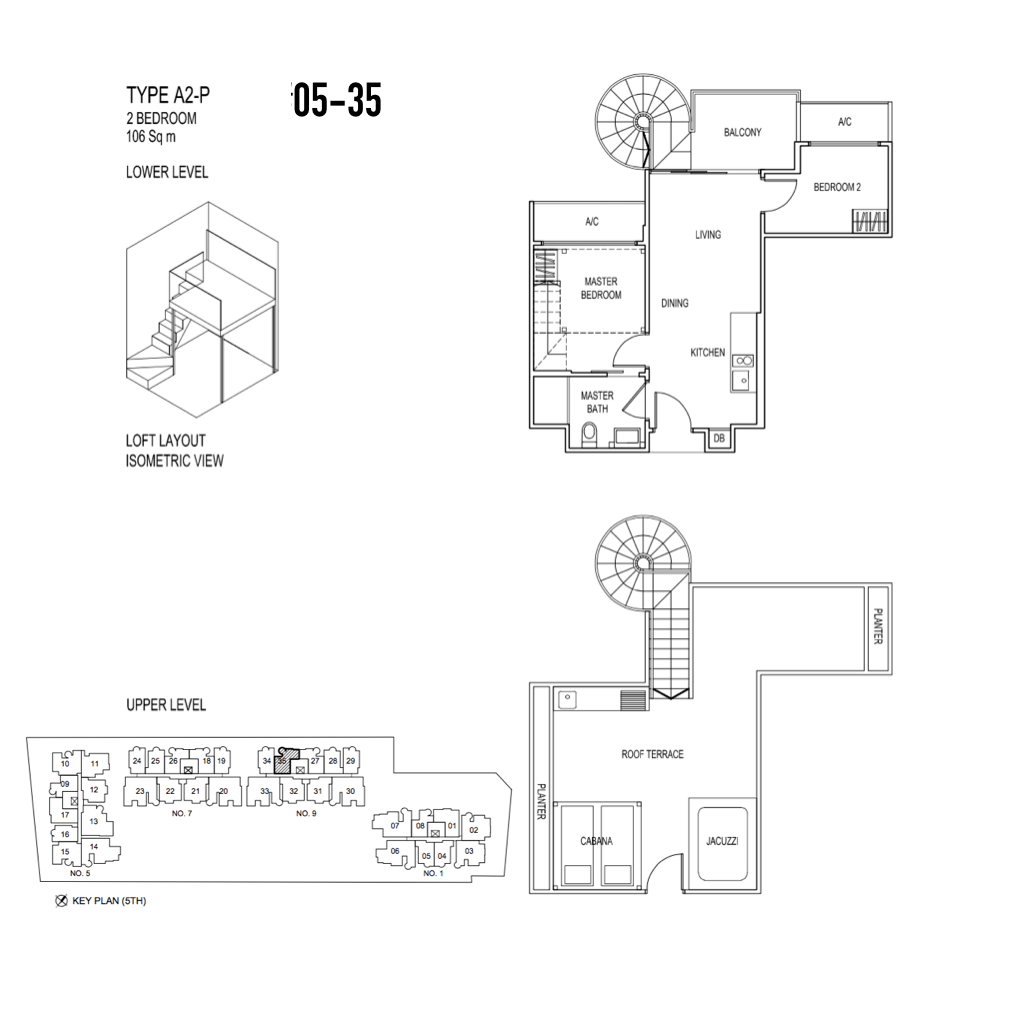 New Condo Launch - Jade Residences - Floor Plan Type A2-P Penthouse2-Bedroom 05-35