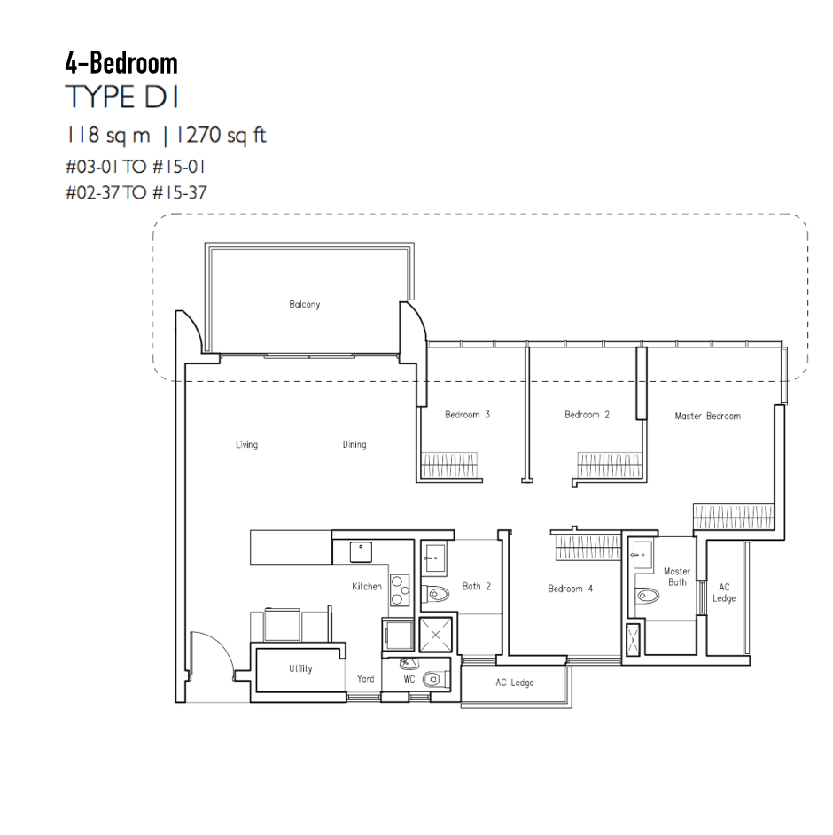 New Condo Launch - LakeVille - Floor Plan Type D1