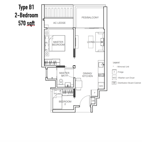 New Launch - Sophia Hills - Floor Plan Type B1 2-Bedroom
