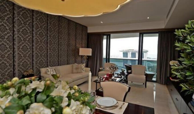 Marina Bay Suites - Opulent Living Room