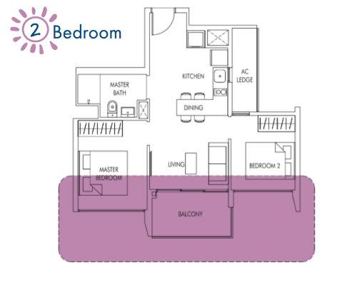 Sol Acres - Floor Plan - 2-Bedroom