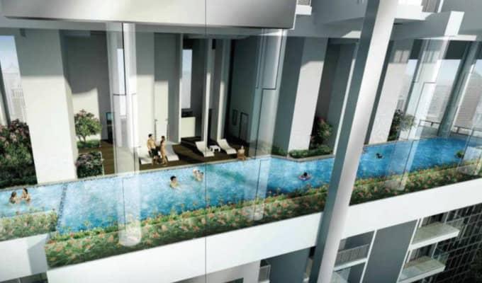 26 Newton - Singapore Condos - Terrace Pool On 14th Floor
