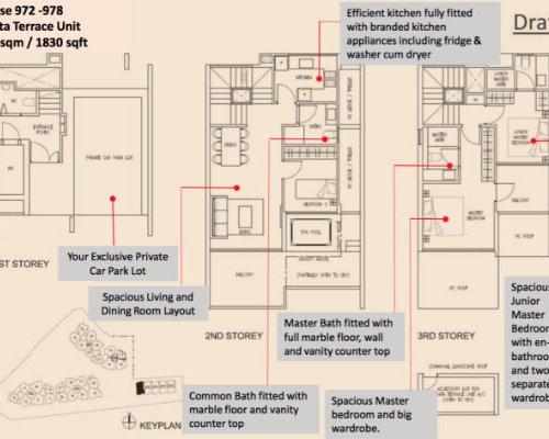 Stars Of Kovan - Floor Plan Strata House 1830sqft