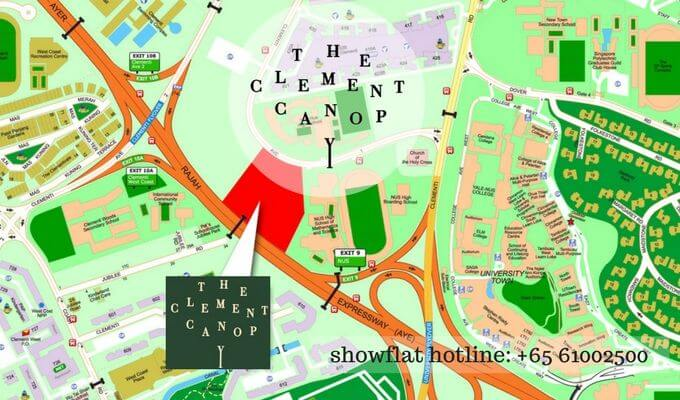 The Clement Canopy Street Map