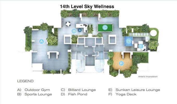 Forte Suites - 14th Level Site Plan - Ciondo Singapore