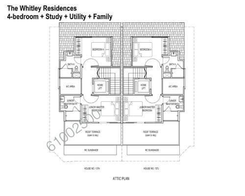 The Whitley Residences Floor Plan Attic