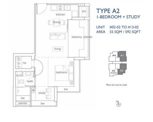 The Peak @ Cairnhill I 1+S 592 sqft