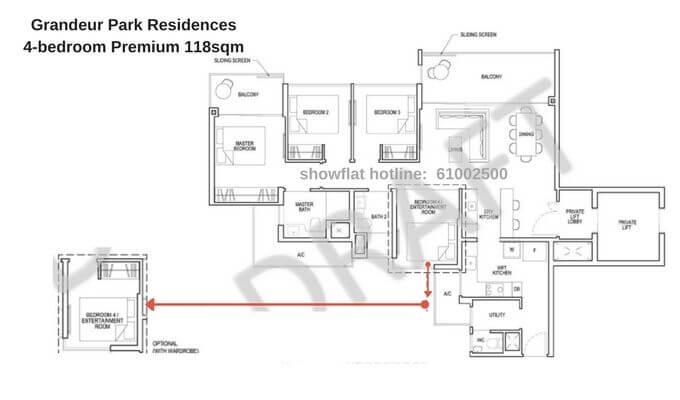 Grandeur Park Residences 4br Premium 118sqm