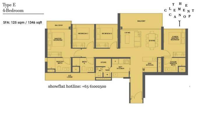 The Clement Canopy 4 bedroom 1346sqft