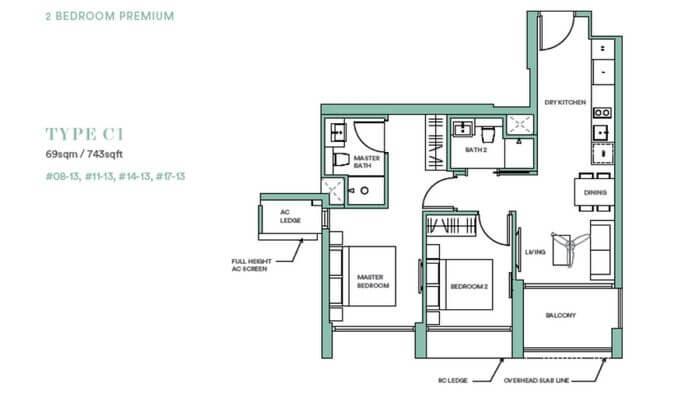 Park Place Residences 2br Premium