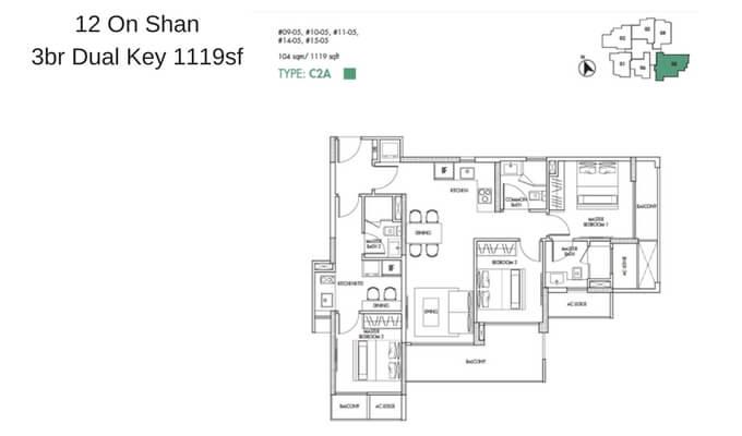 12 On Shan 3br Dual Key 1119sf