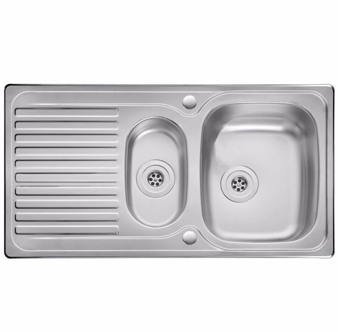 Leisure Linear 1 5 Bowl Reversible Kitchen Sink Newcoolmex
