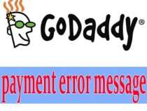 The error message GoDaddy need to know
