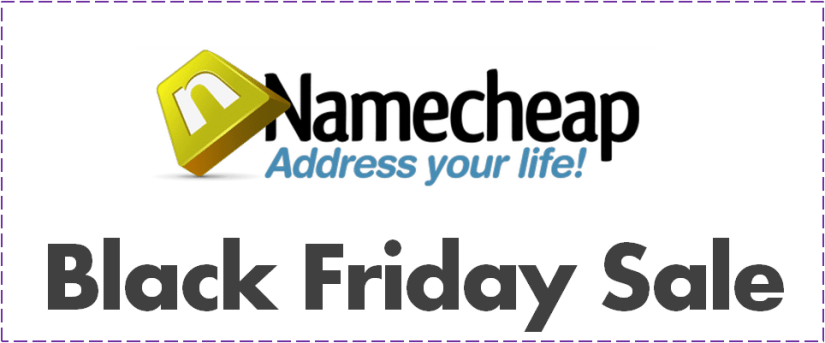 Namecheap Save Up To 99% Off On Black Friday