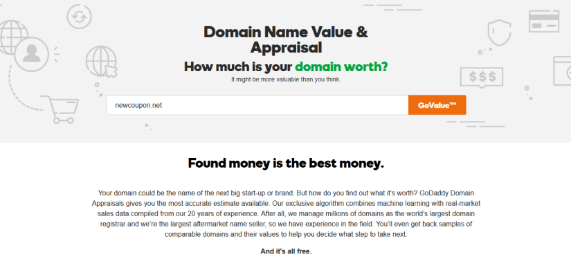 Free Godaddy Domain Value Appraisal Online Tool