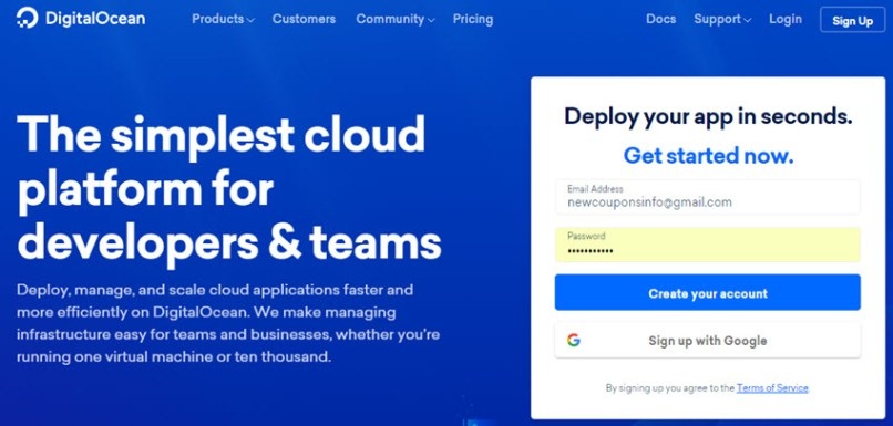 DigitalOcean Promo Code July 2019 - Free Up To $50 Credit