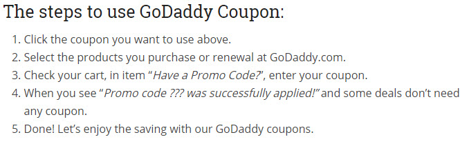 GoDaddy Coupon Codes For Save Up To 40% In April 2019