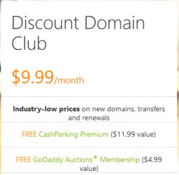 GoDaddy Discount Domain Club - Lowest Prices for Domains