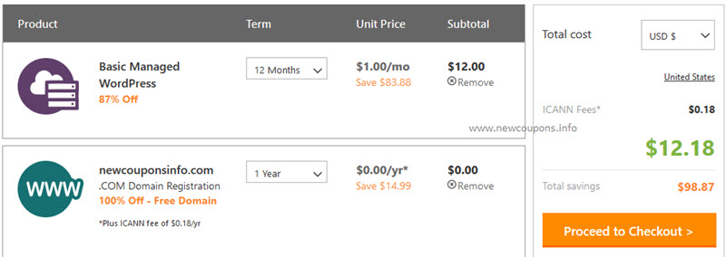 valid 1usd godaddy wordpress hosting coupon