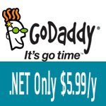 GoDaddy .Net Coupon for only $7.99/yr, unlimited quantity