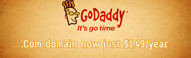 $1.49 .COM Domain Promo Codes at GoDaddy