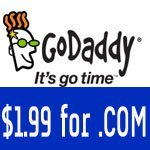 .Com just $1.99/yr using Godaddy march coupon