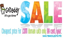 GoDaddy $0.99 .Com's domain coupon
