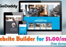 GoDaddy GoCentral Website Builder Promo Codes