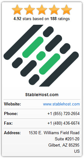 80% OFF StableHost Coupon Codes On September 2020