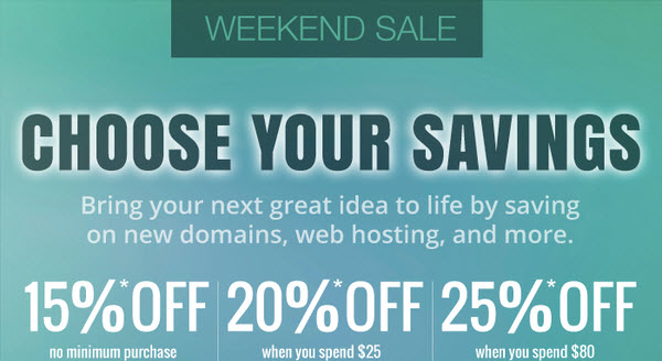 Domain.Com Weekend Sale: Save up to 25% on new products