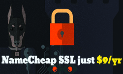 Get SSL encryption on your site for only $9/yr at NameCheap