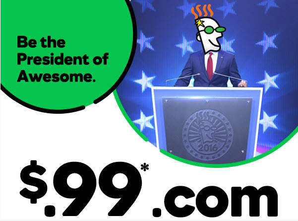 $.99 .Com promotions at GoDaddy